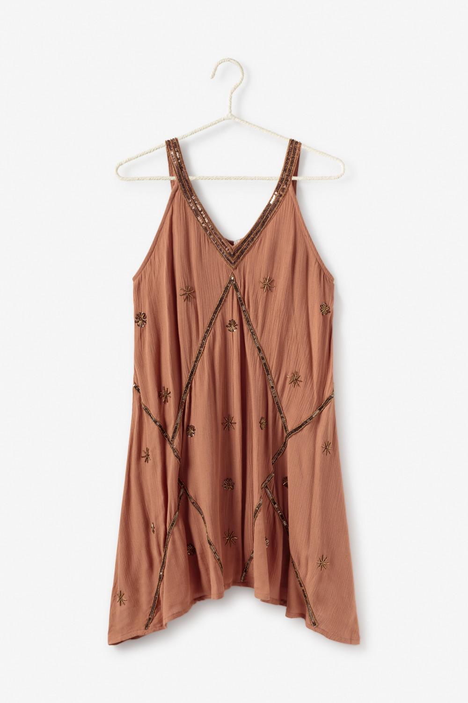 Vestido corto con bordados Alabama Shop
