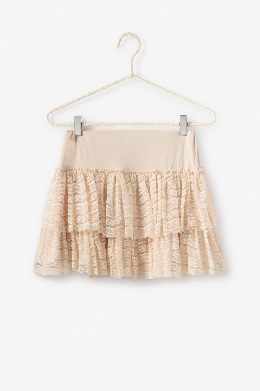 Falda con doble volante de blonda.  Alabama Shop