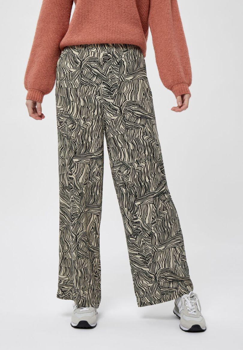Pantalón fluido estampado. 100% viscosa Alabama Shop