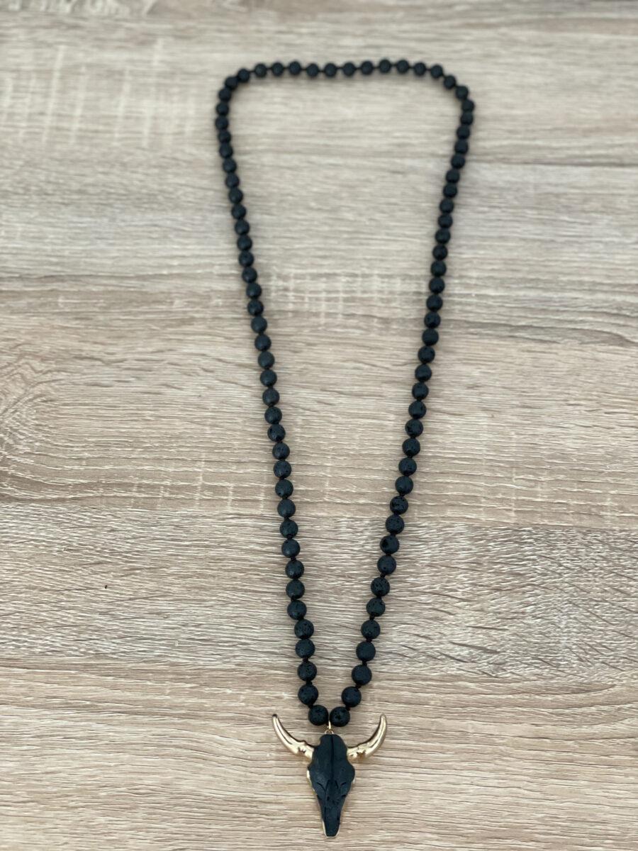 Collar de piedras naturales. Longitud: 88 cm Alabama Shop
