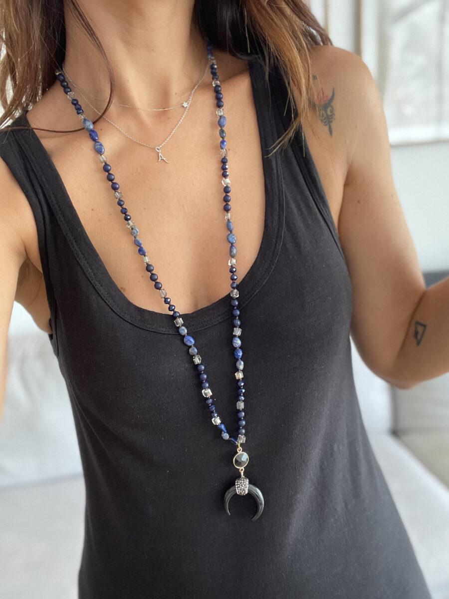 Collar de piedras naturales. Longitud: 86 cm Alabama Shop